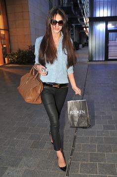 Georgia Salpa in Zara & Wrangler