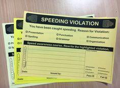 Speeding Ticket for work
