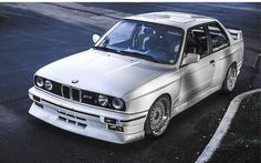BMW E30 M3 white; never gets old