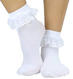Frilly Socks, Cute Socks, Socks And Heels, Ankle Socks, Cute Girl Dresses, Cute Outfits, Bobby Socks, Nike Shoes Air Force, Hair Dye Colors