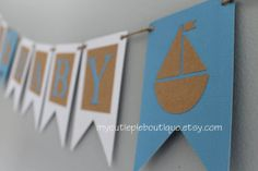 Personalized Ahoy Nautical Theme Baby Shower by mycutiepieboutique, $12.00