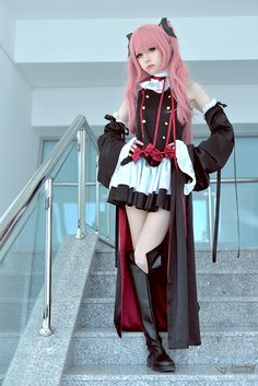 Seraph of the End Vampires Krul Tepes Cosplay Costume Uniform Cosplayer: Anzujaamu Kawaii Cosplay, Cosplay Anime, Asian Cosplay, Cute Cosplay, Amazing Cosplay, Cosplay Outfits, Cosplay Style, Vocaloid Cosplay, Belle Cosplay