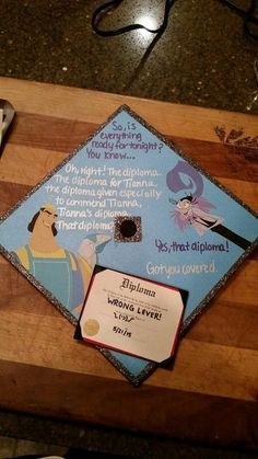 Whos that girl? Its Jess! — I will be this person at graduation. yes qq Funny Graduation Caps, Graduation Cap Designs, Graduation Cap Decoration, High School Graduation, College Graduation, Funny Grad Cap Ideas, Disney Graduation Cap, Graduation Hats, Graduation Photoshoot