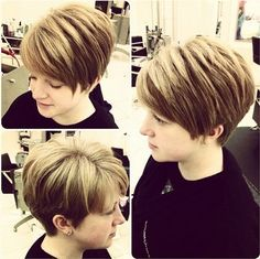 Layered Short Haircut for Thick Hair - Best Short Hairstyles for Women 2015