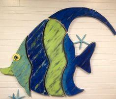 Giant Fish Art Sign Beach House Art Moorish Idol by CastawaysHall