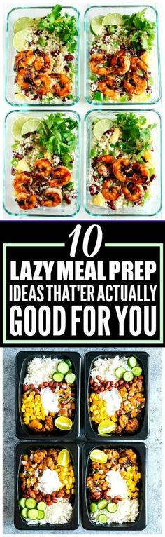 These 10 weekly meal prep ideas are THE BEST! I'm so happy I found these GREAT ideas! These meal prep for the week recipes look so good! And they're healthy! Definitely pinning!