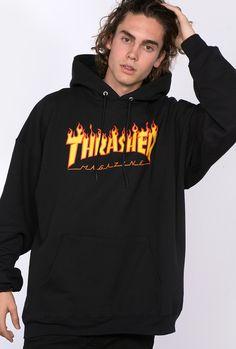 Thrasher Flame black hoodie By Kaotiko BCN street style clothing e-Shop: T-shirts, sweatshirts, trousers, shorts, snapbacks Thrasher Flame Hoodie, Thrasher Outfit, Hypebeast, Dog Wear, Mens Fashion, Fashion Outfits, Colourful Outfits, T Shirts, Men's Hoodies