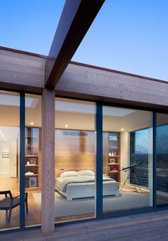 wooden glass home - Google Search