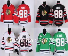 Cheap NHL Jerseys Patrick Kane Jersey Best Quality Sewn 2014 Hockey 88  Chicago Blackhawks Jerseys White Red Green Black Ice Final Champions f8a4f921d