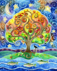 Tree water moon