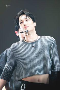 191229 Kai EXplOration dot in seoul Day 1 Mens Crop Top, Half Shirts, Exo Kai, Asian Men, Aesthetic Clothes, Sexy Men, Rapper, Dressing, Style Inspiration