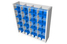 Expedit 4x4 mit CD Regal Einsätzen von New Swedish Design. In einem solchen Regal können theoretisch 4 x 4 x 2 x 60 = 1920 Cds untergebracht werden.