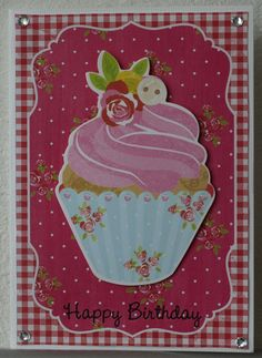 SCRAP FX Chipboard /'CUPCAKES/' Embellishments Tea Party//Cake Choose from 5