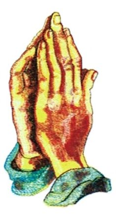 Balboa Threadworks Embroidery Design: Praying Hands 3.54 inches H x 2.04 inches W