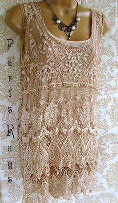 Fabulous lace top by shabbyrosestudio.com $65
