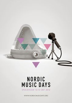 Nordic Music Days: Urinal; Music festival in four days at four venues - Musikaliska Concert Hall (built by King Oscar II), Slussen (famous for herring), The Halwyl Museum (famous for feather dust collection), Moderna Museet (famous for Duchamp urinal). Advertising Agency: A Perfect World, Stockholm, Sweden Creative Director: Pia Högberg Art Directors: Johan Gustafsson, Peder Anzén Illustrator: Erik Söderberg Published: May, 2012