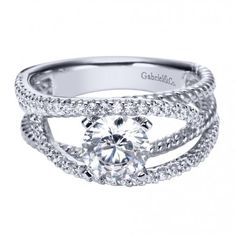 Contemporary Free Form Engagement Ring ER5363W44JJ