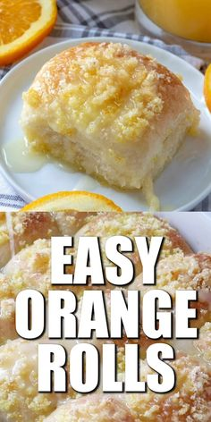 These Easy Orange Rolls are made with frozen yeast rolls, topped with fresh orange zest and covered in a delicious orange glaze! Köstliche Desserts, Delicious Desserts, Dessert Recipes, Yummy Food, Irish Desserts, Greek Desserts, Healthy Food, Low Carb Recipes, Baking Recipes