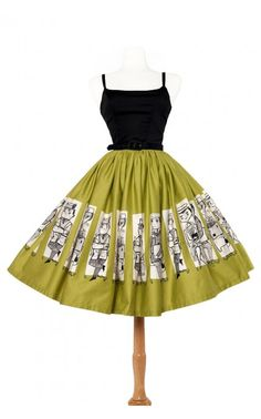 This dress is made from a print created by Mary Blair, one of my favorite animators. - Jenny Dress in Mary Blair Commuters Print