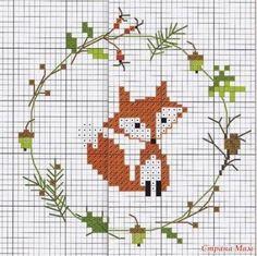 Cross Stitching, Cross Stitch Embroidery, Embroidery Patterns, Hand Embroidery, Sewing Patterns, Mini Cross Stitch, Cross Stitch Animals, Free Cross Stitch Charts, Crochet Christmas Wreath
