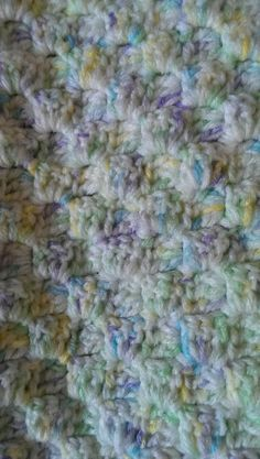 Corner start baby afghan easy to do for a quick baby blanket free