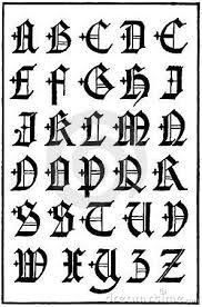 Afbeeldingsresultaat voor kalligrafie alphabet