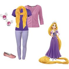 Rapunzel inspired cool weather outfit for Disney World