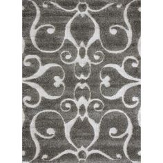 Jullian Charcoal Grey/ Brown Shag Rug (7'7 x 10'6) - Free Shipping Today - Overstock.com - 12958660 - Mobile
