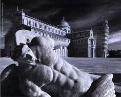 Pisa,  Angeli di Igor Mitoraj Tuscany