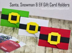 Santa, Snowman and Elf Gift Cards