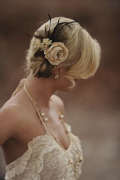 gorgeous lace and hair piece - beautiful