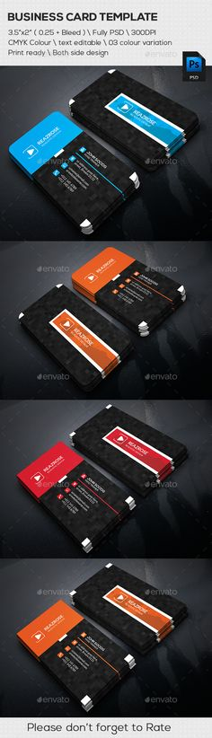 Abstract Corporate Business Cards