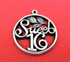 Sweet 16 Wells Sterling Silver Charm 16th Birthday Bracelet