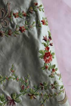 Trouvais 18th century French embroidered silk