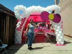 Arco de Globos de Hello Kitty.