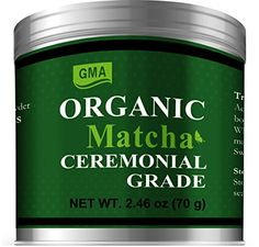GMA Organic Matcha powder is an ancient secret to beauty health and longevity. GMA Matcha is 100% USDA Certified Organic Vegan Gluten-free and Non-GMO. we work only with organic farms in clean moun...