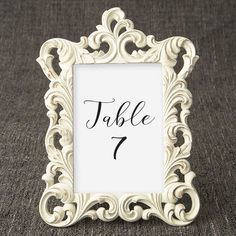 Elegant photo frames - 5 x 7 ivory & gold frames for table numbers - tea Summer Wedding Favors, Honey Wedding Favors, Creative Wedding Favors, Inexpensive Wedding Favors, Elegant Wedding Favors, Edible Wedding Favors, Candle Wedding Favors, Wedding Favors For Guests, Fall Wedding