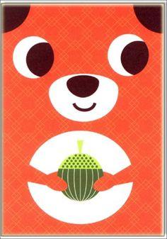Cute #squirrel greeting #card by #Ingela P #Arrhenius from www.kidsdinge.com  https://www.facebook.com/pages/kidsdingecom-Origineel-speelgoed-hebbedingen-voor-hippe-kids/160122710686387?sk=wall