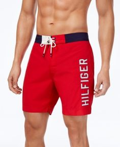Tommy Hilfiger Men's Colorblocked Seaboard 7 Board Shorts, Created for Macy's Pantalones Tommy Hilfiger, Tommy Hilfiger Chinos, Tommy Hilfiger Outfit, Mens Boardshorts, Sport Outfits, Tomboy Outfits, Men Casual, Gym Shorts, Sport Shorts