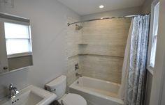 Standard 8x5' Bathroom with Cast Iron Tub.