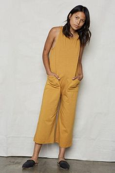 The Organic Cotton Everyday Jumpsuit. So easy to wear that you'll be wearing it, well, EVERYDAY. One of our bestsellers. Fit: Loose Fit - See product measurements below- Cotton Jumpsuit, Affordable Fashion, Playsuit, Sustainable Fashion, Capsule Wardrobe, Best Sellers, Boho Fashion, Organic Cotton, Shirt Dress