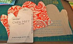 Gingercake   Oven Mitt Pattern.  A sewing project I can handle.