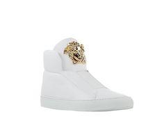 Versace Slip-on Medusa White Leather Sneakers