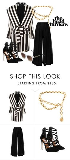 """""""✨"""" by overdose-onstyle ❤ liked on Polyvore featuring Balmain, Chanel, Valentino, Steve Madden, Thierry Lasry and boss"""