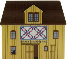 Candabean Collectibles  - Cat's Meow Village Double Wedding Ring Quilt Barn