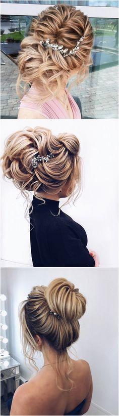 stunning updo wedding hairstyle #weddinghairstyles #bridalhairstyle #bridalupdos #weddinghairstyle