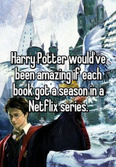 """Harry Potter would've been amazing if each book got a season in a Netflix series."""