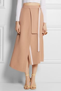 Antique-rose crepe Snap fastenings at front acetate, viscose; Skirt Pants, Midi Skirt, Fashion Outfits, Womens Fashion, Female Fashion, Origami Fashion, Female Portrait, Fashion Details, My Wardrobe