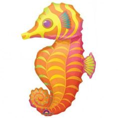 Under the Sea Party: Seahorse 3 Ft. Foil Balloon Party Supplies Canada - Open A Party