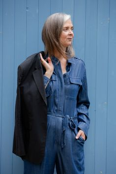 Easy summer style: the jumpsuit and jacket combo